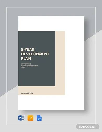 5 year development plan template