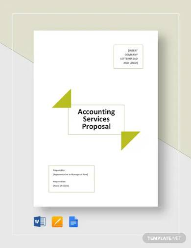 accounting services proposal template