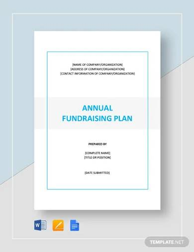 annual fundraising plan template1