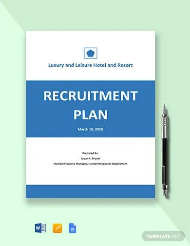 annual recruitment plan template