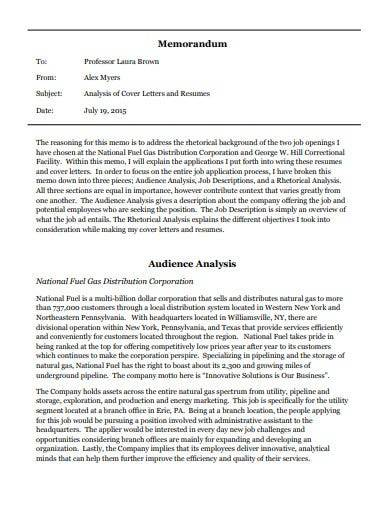 audience analysis memo template