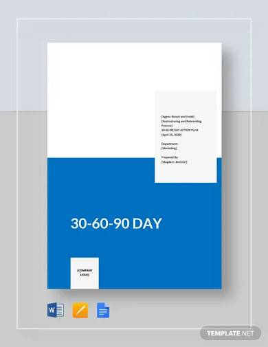 basic 30 60 90 day template