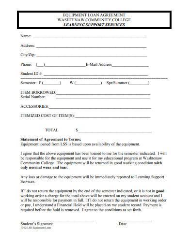 basic equipment loan agreement