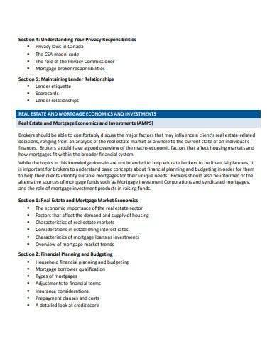 basic mortgage broker business plan