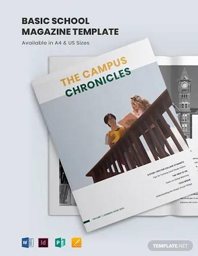 basic school magazine template