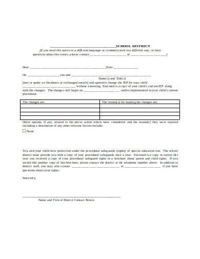 basic special education form
