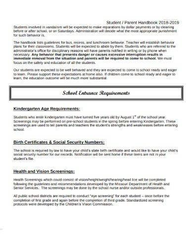 basic student and parent handbook