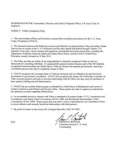 basic tribal consultation policy