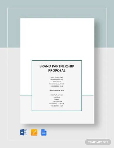 brand partnership proposal template