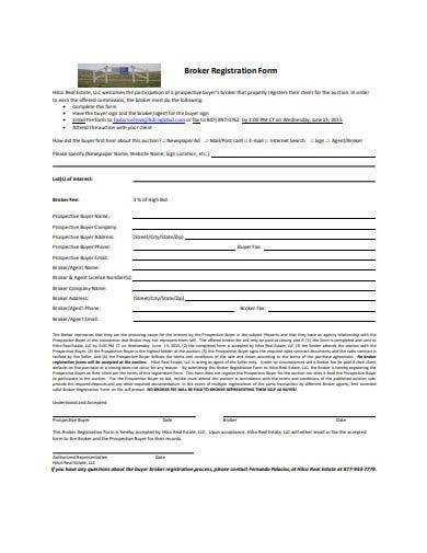 broker registration form template