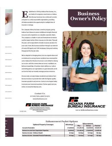 business owner's policy template
