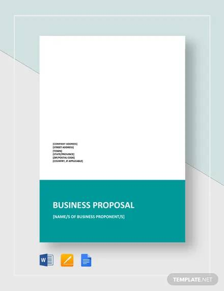 business proposal format