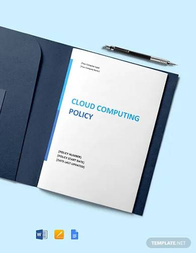 cloud computing policy template