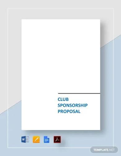 club sponsorship proposal template