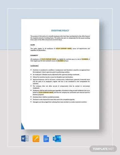 company overtime policy template