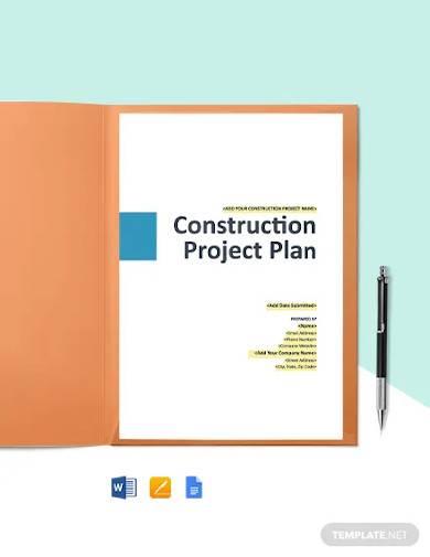 construction risk management plan template