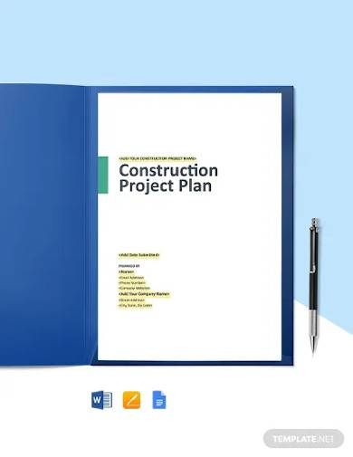 construction schedule management plan template