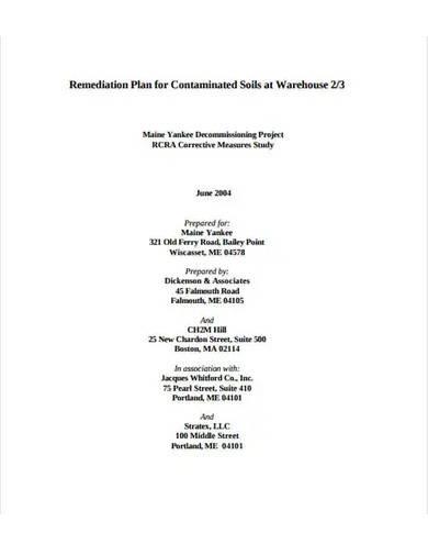 contaminated soil remediation plan