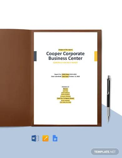 contractor construction daily report template
