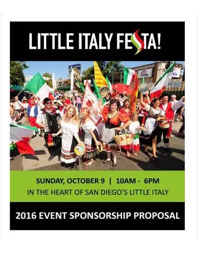 corporate event sponsorship proposal