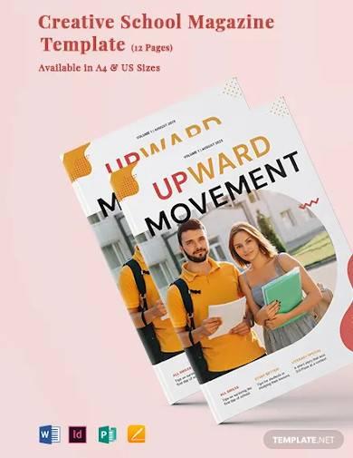 creative school magazine template