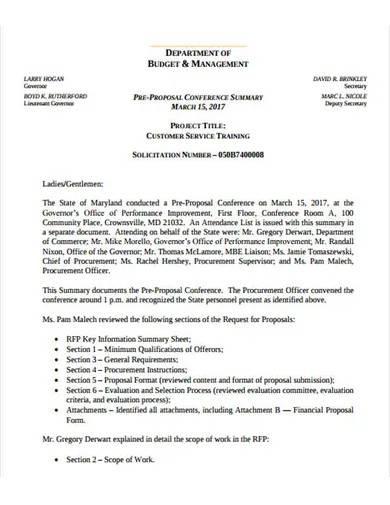 customer service training proposal