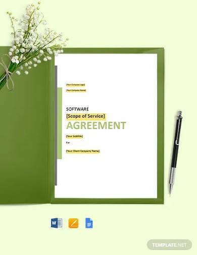 customised software development agreement template