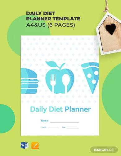 daily diet planner template