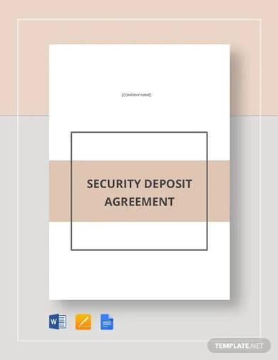 deposit agreement template