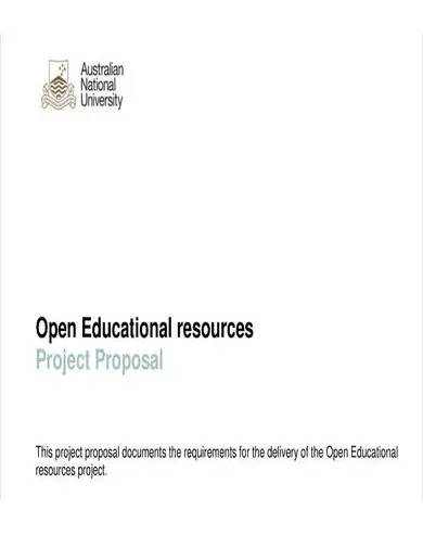 education resource project proposal