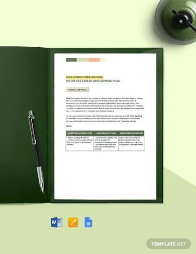 employee career development plan template