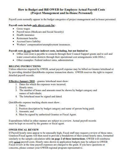 employee payroll budget format