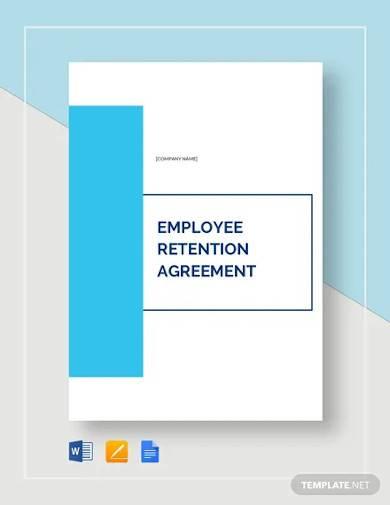 employee retention agreement template
