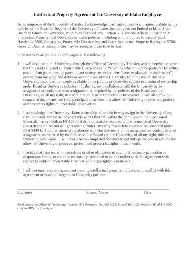 employees intellectual property agreement