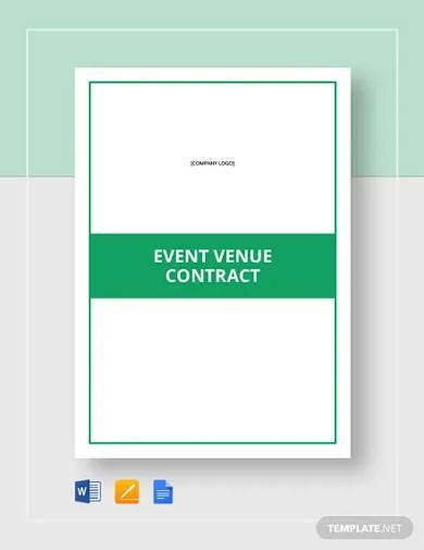 event venue contract template