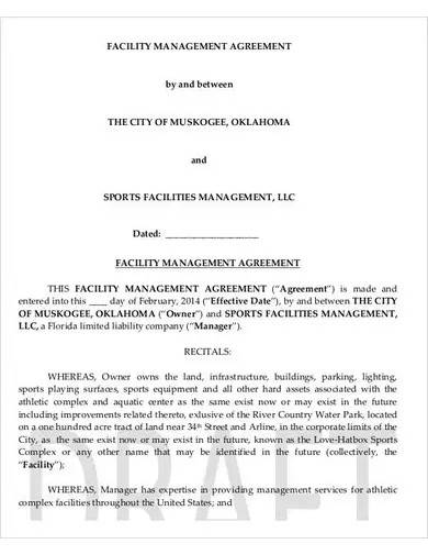 facility management agreement