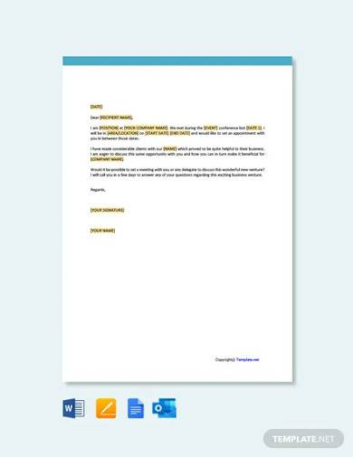 free appointment request letter template
