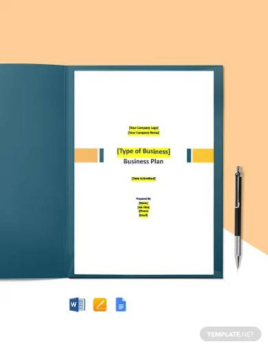 free basic it business plan template1