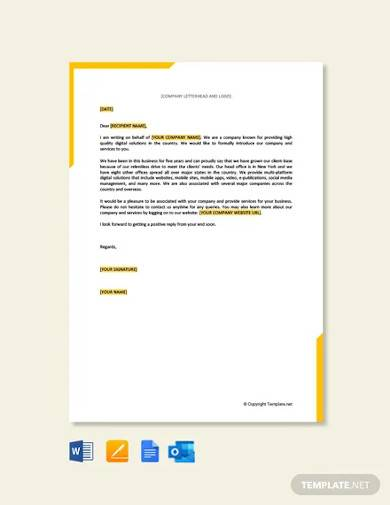 free business proposal letter for service