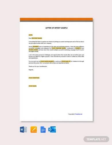 free letter of interest sample
