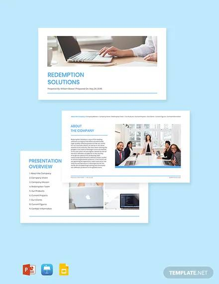 free modern software company profile template