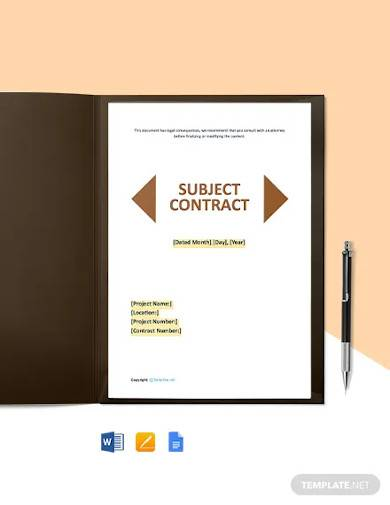 free printable construction contract template