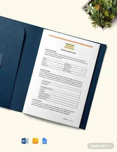 free sample construction training request form template