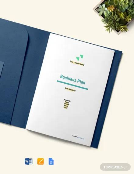 free sample information technology business plan template
