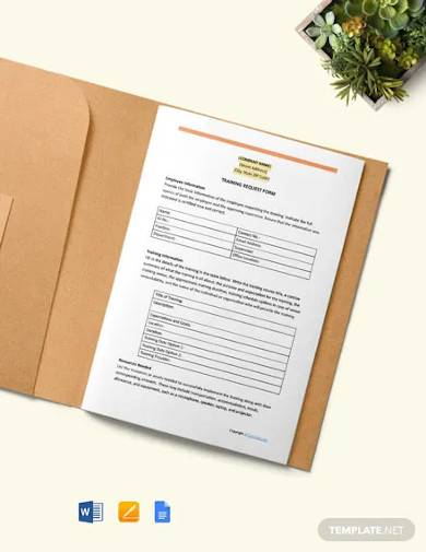 free simple construction training request form template
