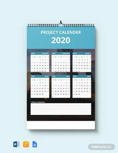 free simple project desk calendar template