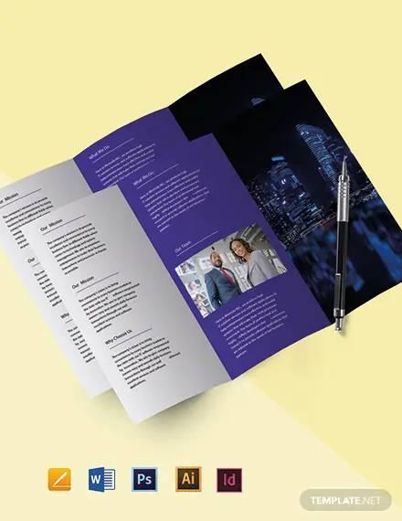free tri fold simple it brochure template