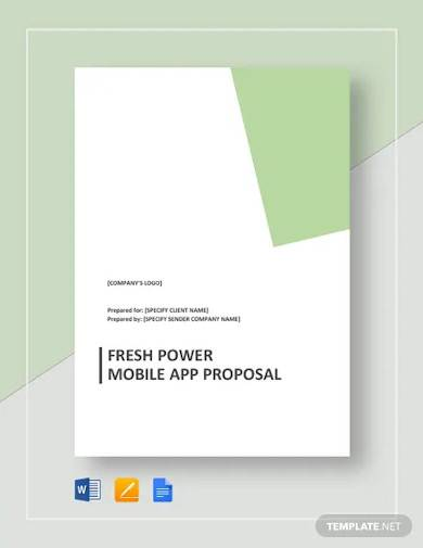 fresh power mobile app proposal template