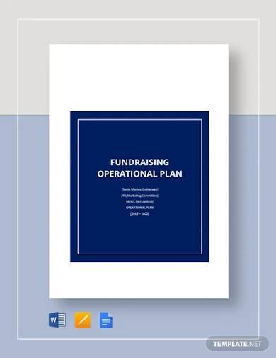fundraising operational plan template