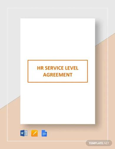 hr service level agreement template